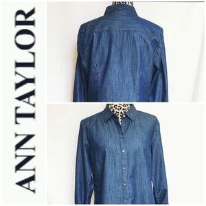 Ann Taylor Chambray Button Down